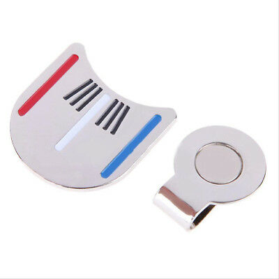 Golf Ball Marker Putting Alignment Aiming Tool with Magnetic Hat Clip Silver Eag