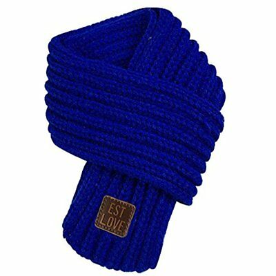 Kids Winter Cold Weather Warm Knit Scarves Fashion Solid Color Cable Scarf Boys