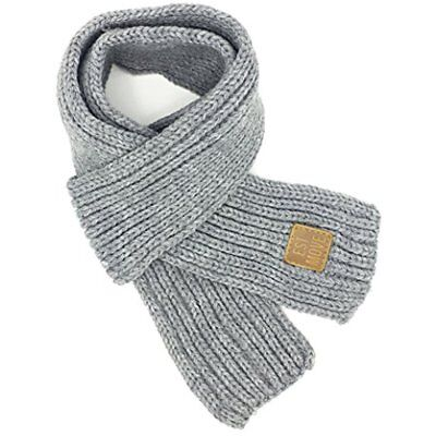 Toddlers Kids Cold Weather Boys Girls Winter Knitted Warm Scarf Neck Warmer, NEW