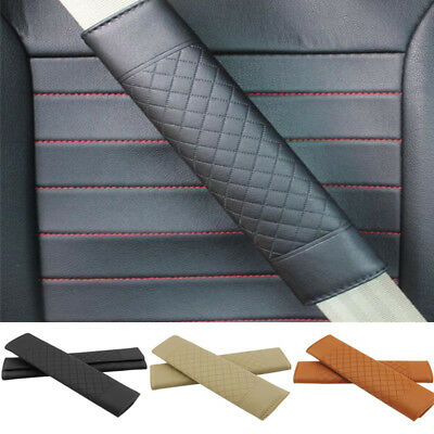1x Car Safety Seat Belt Shoulder Pads Cover Auto Cushion Harness Comfortable Pad