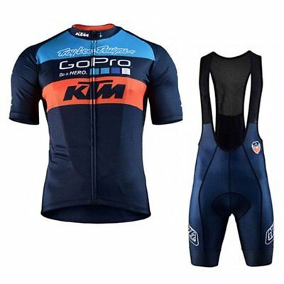 2018 Outdoor sport Men Short Sleeve Cycling Jersey Bicycle Bib Shorts set new