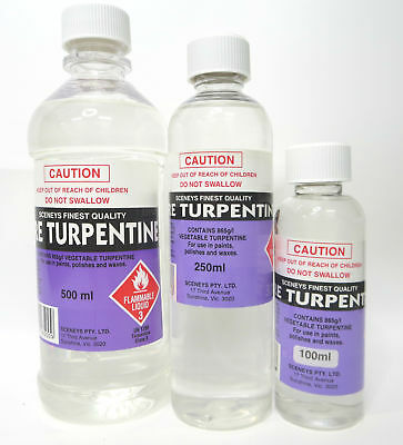 Sceneys Pure Turpentine, Choose Your Size