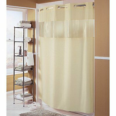 Hampton Inn Hilton Hotels Exclusive Hookless Washable Fabric Shower Curtain With
