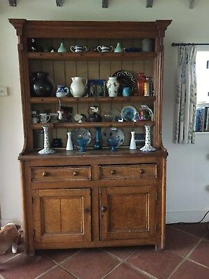 Antique Victorian Dresser, pine varnished to replicate an oak grain