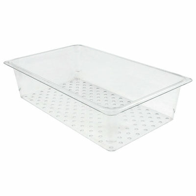 """Cambro 15CLRCW135 Camwear Full-Size Food Pan Colander 5"""" Deep Polycarbonate"""