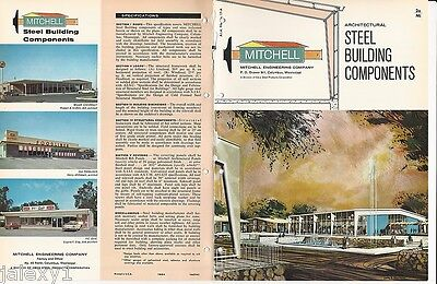 1964 MITCHELL ENGINEERING Steel Building Components ASBESTOS Panels VTG Catalog