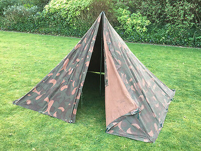 Genuine HUNGARIAN Military 2 Man TEEPEE Tent canvas bushcraft Preppers Army TIPI & GERMAN ARMY Flecktarn 2 Man Pup Tent Reversible Camo / Olive Green ...