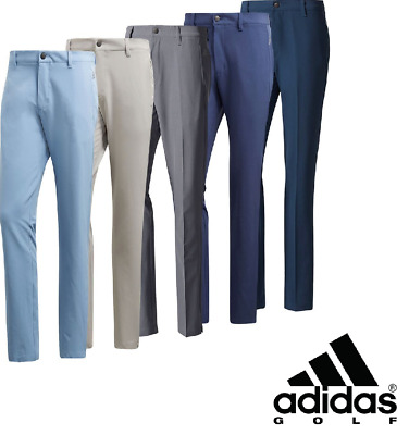 Adidas Golf 2018/19 Ultimate 3-Stripe Men's Golf Trousers - Tapered Leg - New.