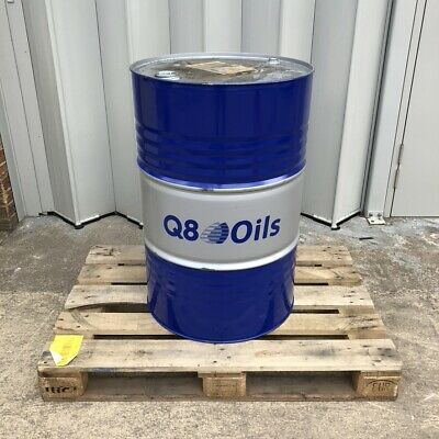 Empty Metal Oil Barrel Drum 205L - Blue - Gm / Vauxhall