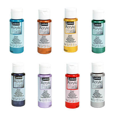Pebeo Art, Craft & Hobby Acrylic Paint 59ml Bottles 14 Colours with PEARL Finish