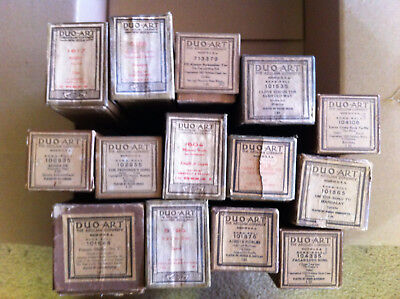 Lot of 14 Duo Art Player Piano Rolls