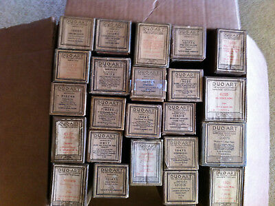 Lot of 23 Duo Art Player Piano Rolls