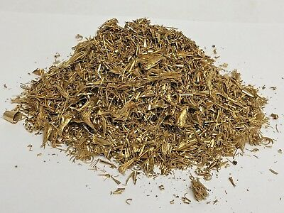 10oz Brass Shavings Turnings Orgone Scrap Metal Art Recovery Dry Fine Dust Ounce