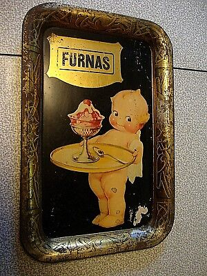 Rare Vintage Furnas Ice Cream Tray Original Kewpie Doll Illustration