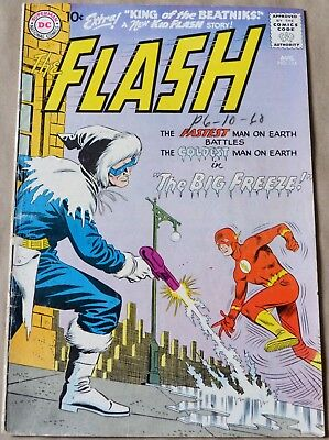 Flash #114 (Dc, 1960) Captain Cold Appearance. Kid Flash Backup Story.