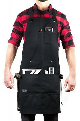 Hudson Durable Goods - Deluxe Edition Waxed Canvas Tool Apron Upgraded with...