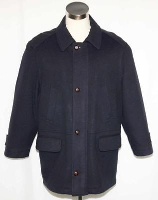 "BOILED WOOL Car Over COAT Jacket Men German Winter NICE LINING ~ WARM  c48"" XL"