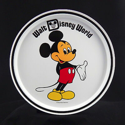 REMARKABLE! WALT DISNEY WORLD MiCKeY MoUse ROUND METAL SERVING TRAY Souvenir