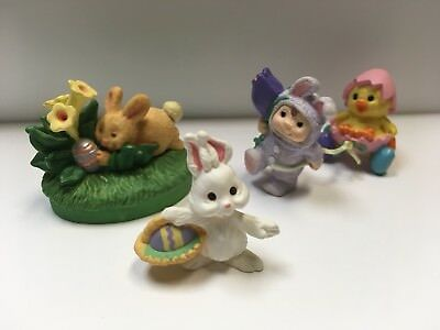 LOT of 3 Hallmark Easter Bunny Merry Miniatures dated 1992, 95, 96