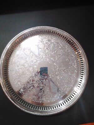 BRISTOL Silverplate By POOLE EPCA ORNATE Tri Footed Serving Tray