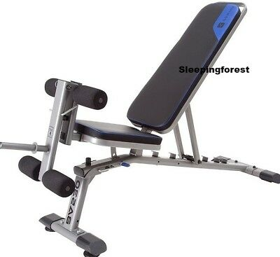 Fold Down Weight Bench Lifting Workout Adjustable Incline Fitness