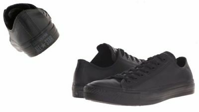 ed475bc09406e CONVERSE MEN S CHUCK TAYLOR ALL STAR LOW TOP LEATHER BLACK 135253C ...