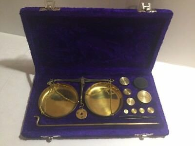 Vintage Portable 100 Gram Apothecary Jewelry Scale Set With Weights In Box India