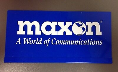 MAXON A World of Communications Plastic Sleeve, VINTAGE ADVERTISING