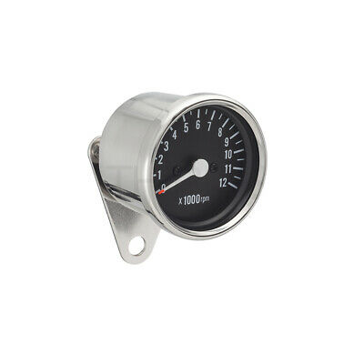 Mechanical Motorcycle Chrome Tachometer 1:7 Ratio suit Cafe Racer Honda