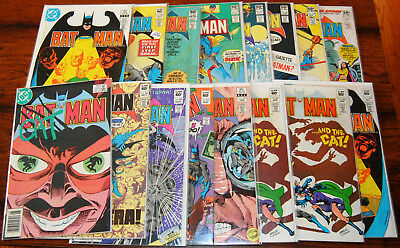 "(16) ""Batman"" DC. Issues range between #332 to 371. Mixed Grade! SWEET COMICS!!!"
