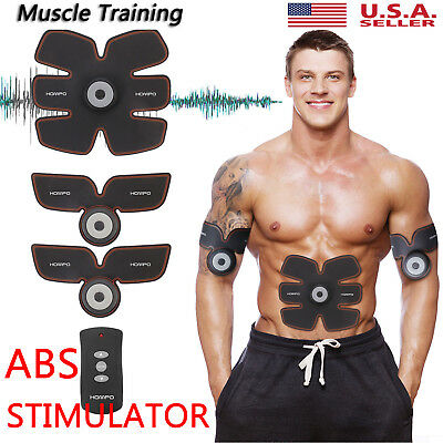 Smart ABS Simulator EMS Training Body Abdominal Muscle Exerciser AB & Arms USA