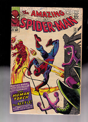 Amazing Spider-Man 21 Ditko Stan Lee Solid copy Beetle Human Torch