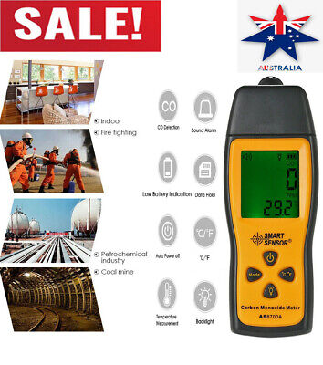 Handheld LCD Carbon Monoxide Meter Detector CO Gas Tester Monitor 0-1000ppm