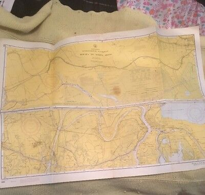 Vtg Nautical Chart: C&GS 880/879 Louisiana Intracoastal Waterway