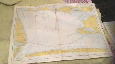 Vtg Nautical Chart: C&GS 889/888 Texas Intracoastal Waterway