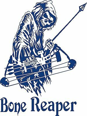 Grim Reaper Bow Arrow Hunting Deer Buck Car Truck Window Vinyl Decal Sticker