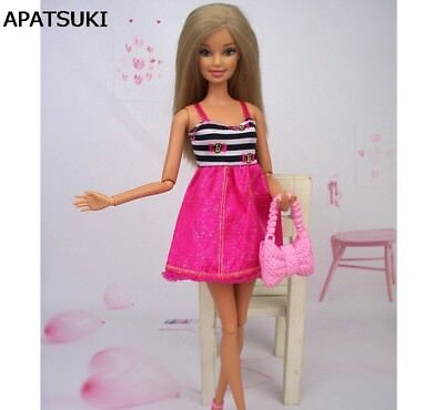"Striped Causal Dress One Piece Short Dress For 11.5"" Doll Clothes Present Gift"