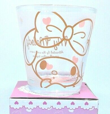 New Sanrio My Melody Tumbler Drink Glass Boxed 2014 Pink Bunny KAWAII JAPAN Pink