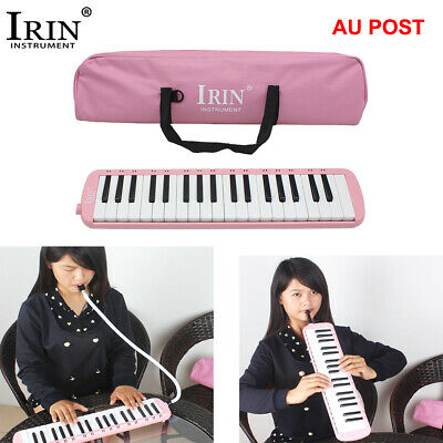 37 Keys Melodica Pianica Instrument with Carrying Bag for Students Blue A6V0