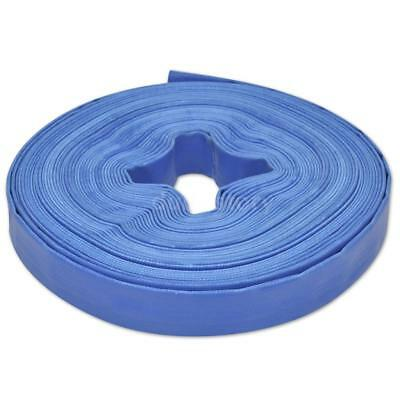 """25 m 1"""" PVC Flat Water Delivery Hose Discharge Pipe Pump Lay Flat Blue G3X4"""