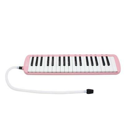 37 Keys Melodica Pianica Instrument with Carrying Bag for Students Pink E9J6