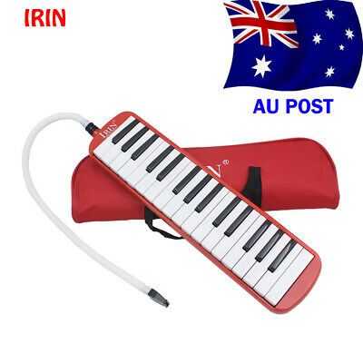 32 Piano Keys Melodica Musical Instrument for Beginners Gift with Bag Red D3R6