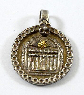 Antique Indian Amulet Showing Rare Folk Art Indian Tribal Amulet Pendant. G10-76
