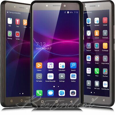 """New Unlocked 5.0"""" Android 7.0 Cell Phone T-Mobile Quad Core Dual SIM GSM 5MP GPS"""