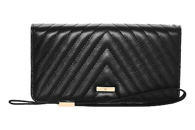 Stella Maris Woman STMW3-02 Diamond Clutch Wallet made of padded black leather L