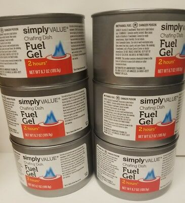 Fuel gel - heat can lot of 6 cans - simply value - made in USA . Free shipping