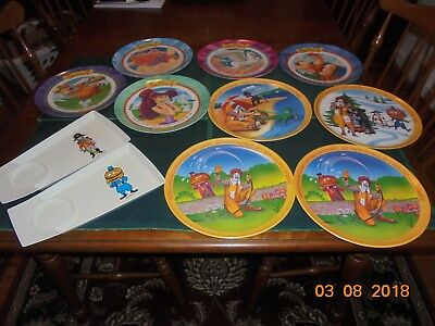 Assorted New Vintage McDonalds Disney Collector Plates