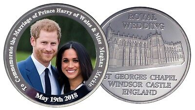 Prince Harry & Meghan Markle Royal Wedding Commemorative Silver Coin and Gift