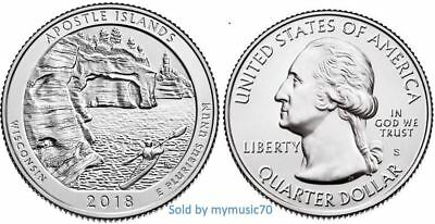 2018 S Apostle Islands National Lakeshore Park Quarter (WI)  **ON HAND**