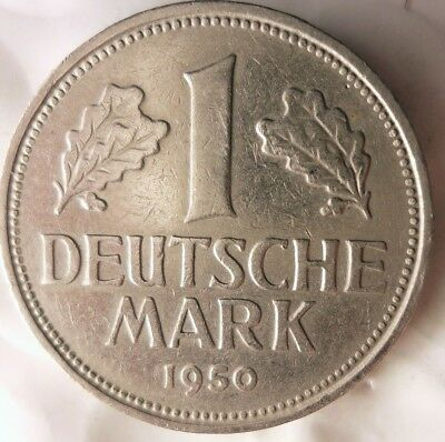 1950 G Germany Deutsche Mark Great Coin Free Ship German Bin 16